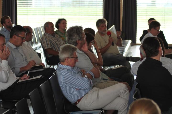 Das Publikum bei der Abschlussveranstaltung in der Hochschule Aalen