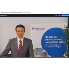 Prof. Dr.-Ing. Stefan Tenbohlen moderiert das Stuttgarter Hochspannungssymposium 2021 Prof. Dr.-Ing. Stefan Tenbohlen moderiert das Stuttgarter Hochspannungssymposium 2021