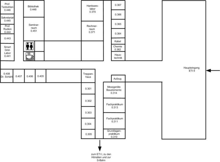 Zimmerplan Erdgeschoss